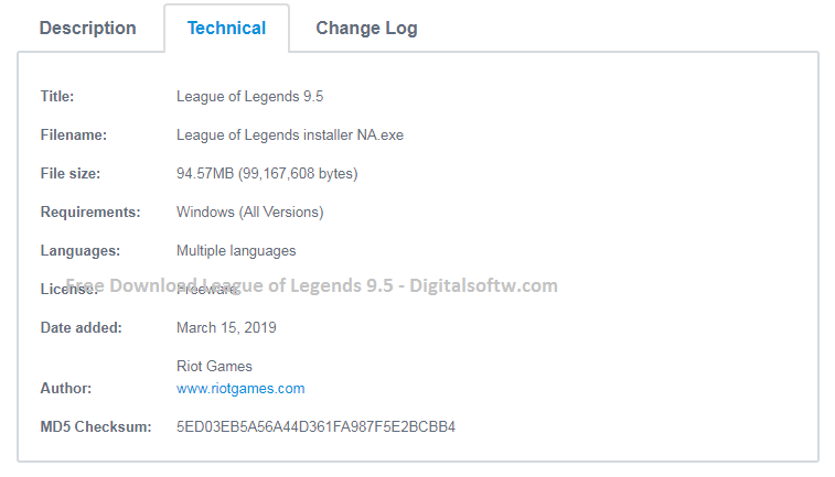 Free Download League Of Legends 95 Digital Softw