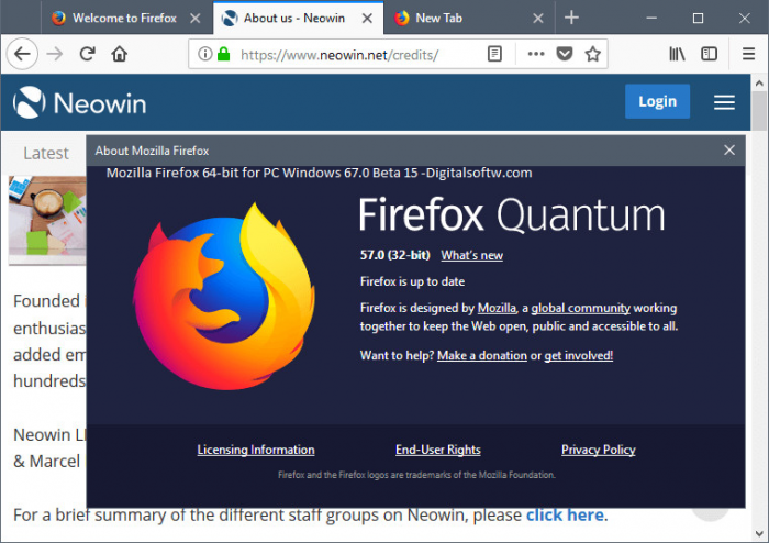 Mozilla Firefox 64-bit for PC Windows 67 0 Beta 15 | Learn More