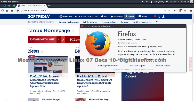 Free Software Downloads Mozilla Firefox for Linux 67 Beta 10 | Learn